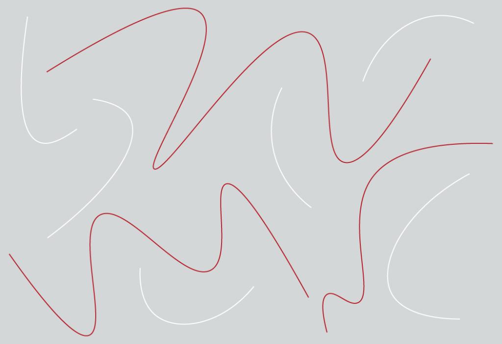 Figura de fundo cinza com linhas na cores branca e vermelha.